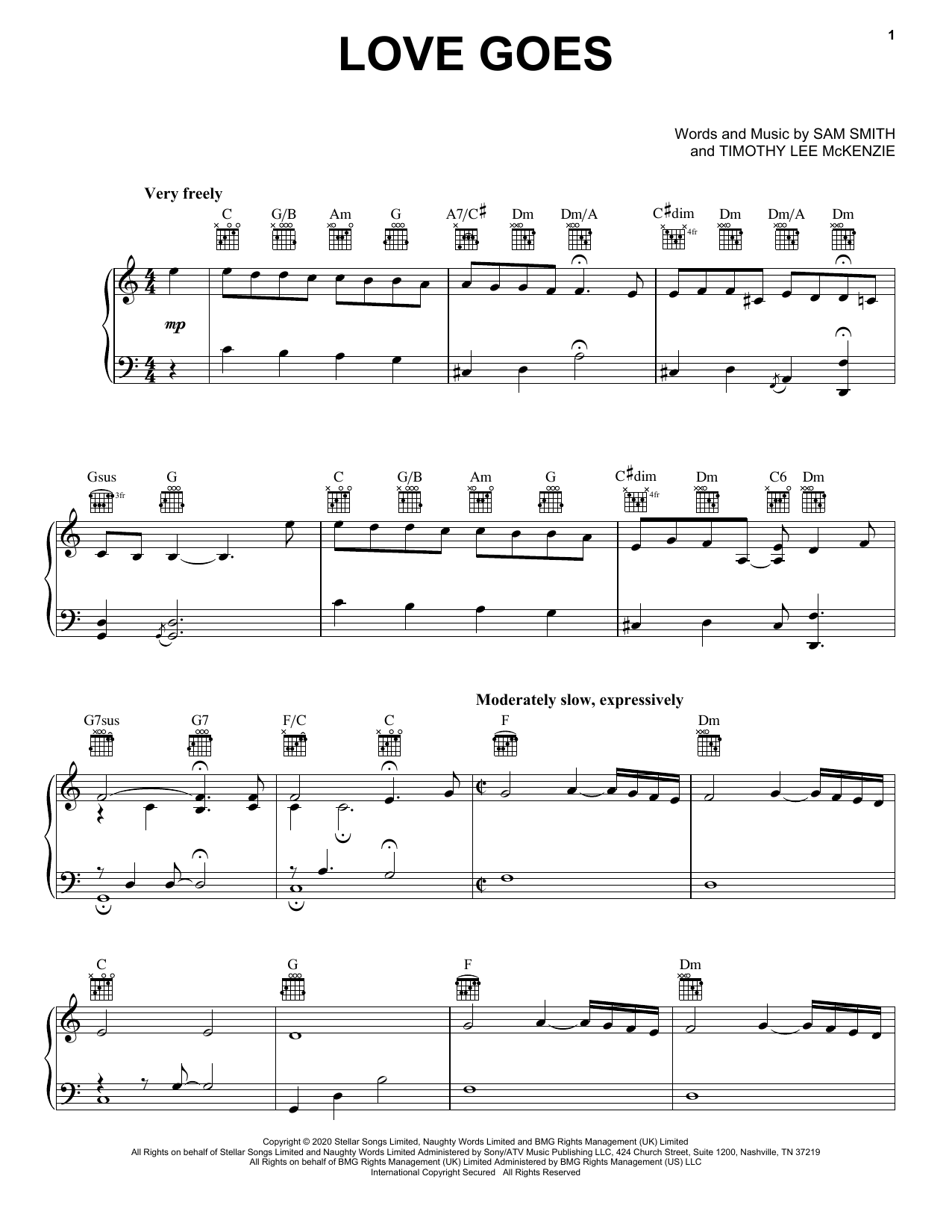 Sam Smith Love Goes (feat. Labrinth) sheet music notes and chords. Download Printable PDF.