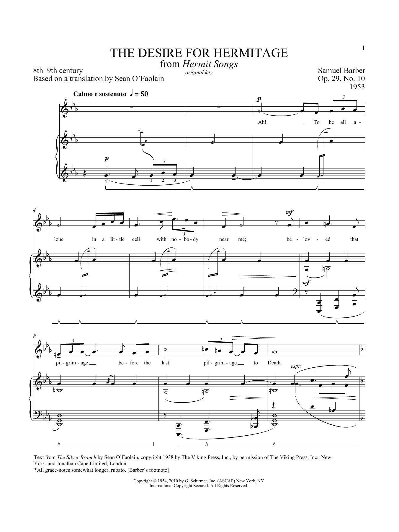 Concerto 2-piano score Samuel Barber Piano Duet
