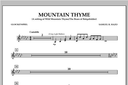 Samuel R. Hazo Mountain Thyme - Glockenspiel sheet music notes and chords. Download Printable PDF.