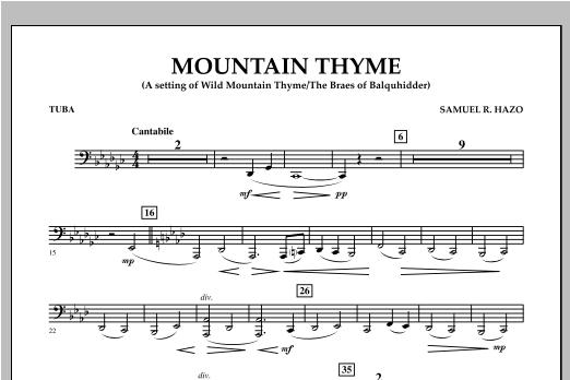 Samuel R. Hazo Mountain Thyme - Tuba sheet music notes and chords. Download Printable PDF.