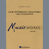 Download Samuel R. Hazo 'Our Yesterdays Lengthen Like Shadows - Trombone 1' Printable PDF 1-page score for Concert / arranged Concert Band SKU: 292475.