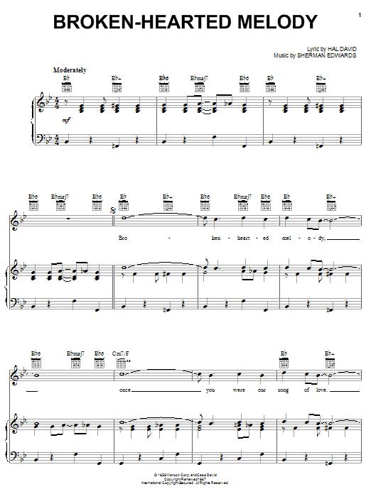 Sarah Vaughan Broken-Hearted Melody sheet music notes and chords. Download Printable PDF.