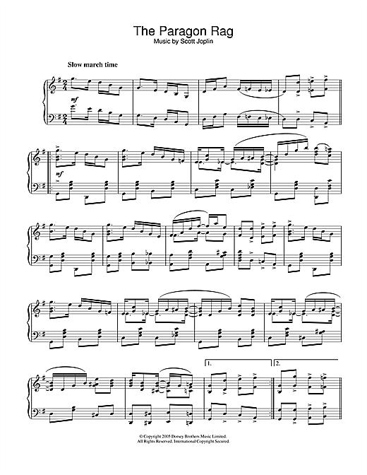 Scott Joplin Paragon Rag sheet music notes and chords