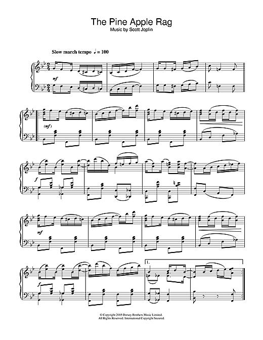 Scott Joplin Pineapple Rag sheet music notes and chords. Download Printable PDF.
