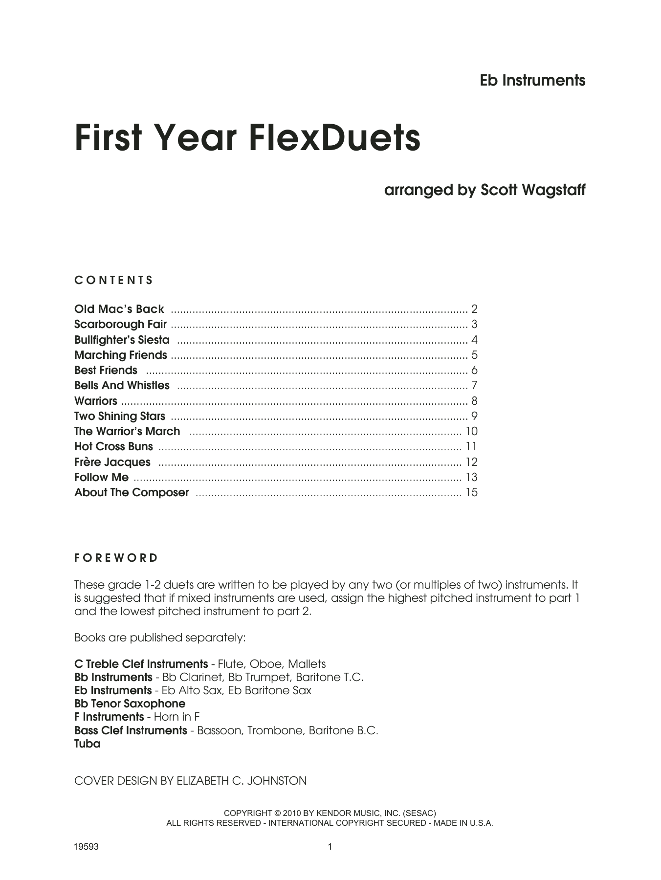 Scott Wagstaff First Year FLexDuets - Eb Instruments sheet music notes and chords