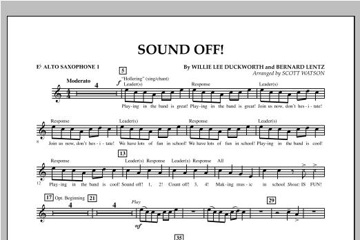 Scott Watson Sound Off - Eb Alto Saxophone 1 sheet music notes and chords. Download Printable PDF.