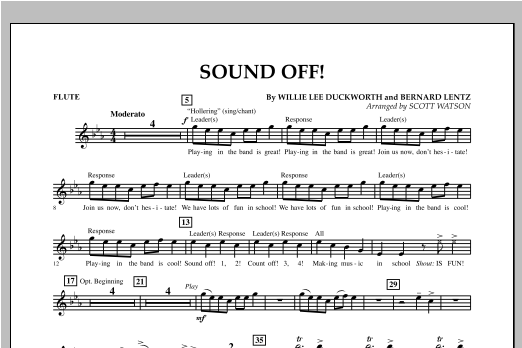 Scott Watson Sound Off - Flute sheet music notes and chords. Download Printable PDF.