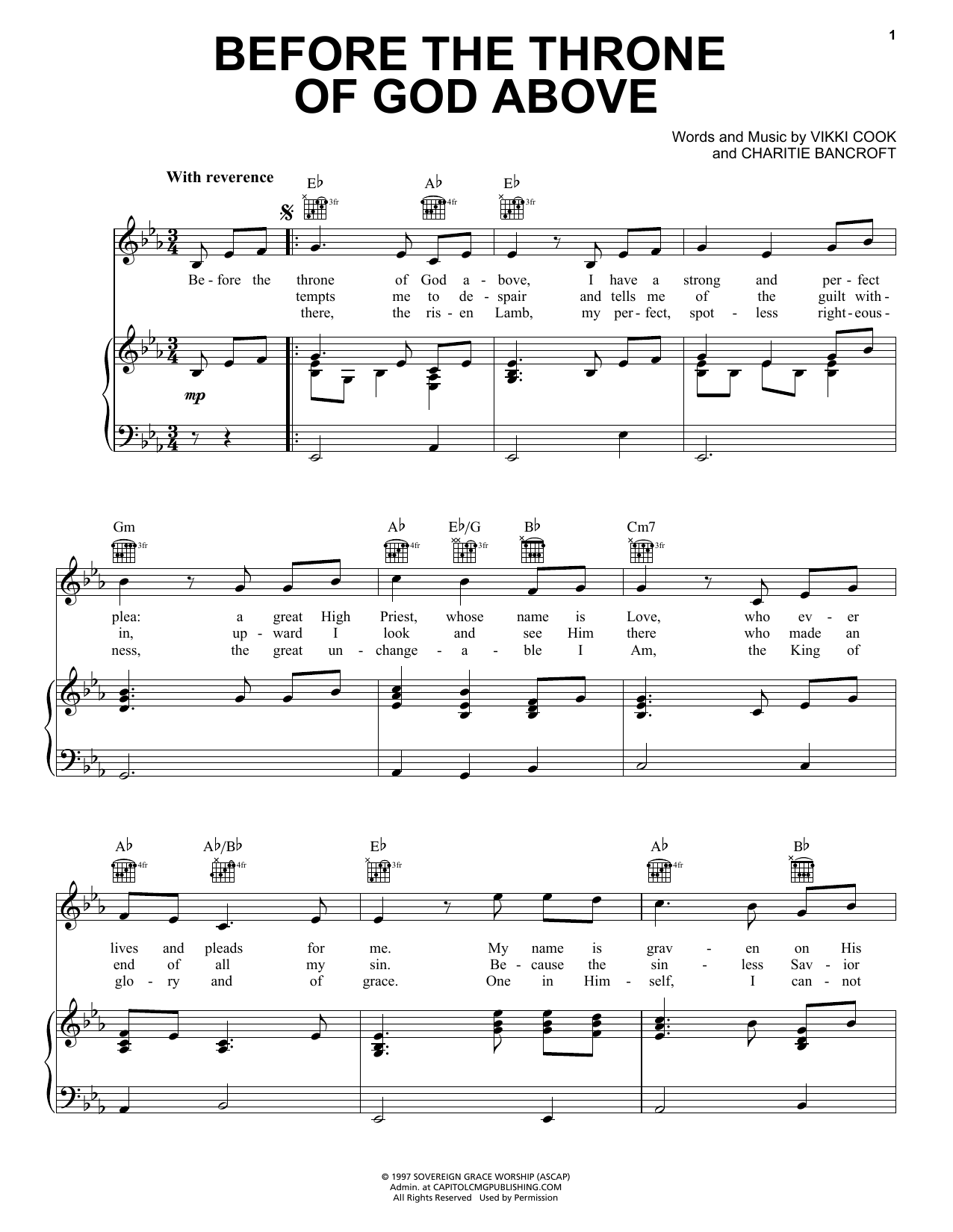 Shane & Shane Before The Throne Of God Above sheet music notes and chords. Download Printable PDF.