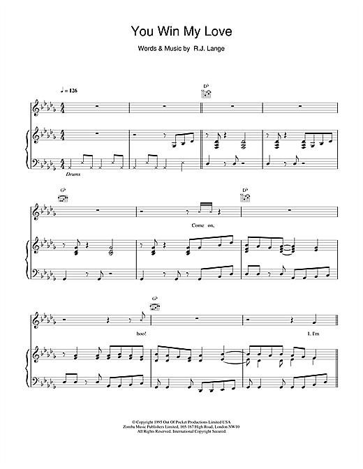 Shania Twain You Win My Love sheet music notes and chords