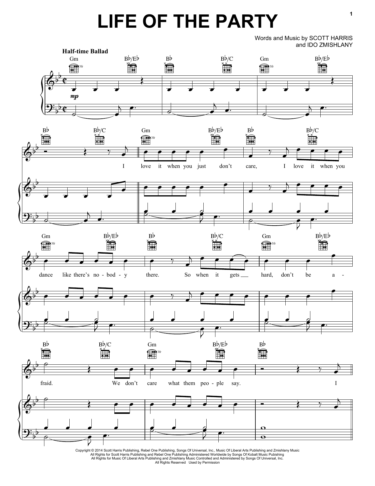 Shawn Mendes Life Of The Party sheet music notes and chords. Download Printable PDF.