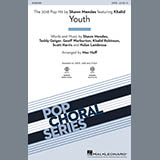 Download Shawn Mendes 'Youth (feat. Khalid) (arr. Mac Huff) - Synthesizer' Printable PDF 3-page score for Pop / arranged Choir Instrumental Pak SKU: 405408.