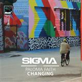 Download Sigma 'Changing (feat. Paloma Faith)' Printable PDF 6-page score for Pop / arranged Piano, Vocal & Guitar (Right-Hand Melody) SKU: 119289.