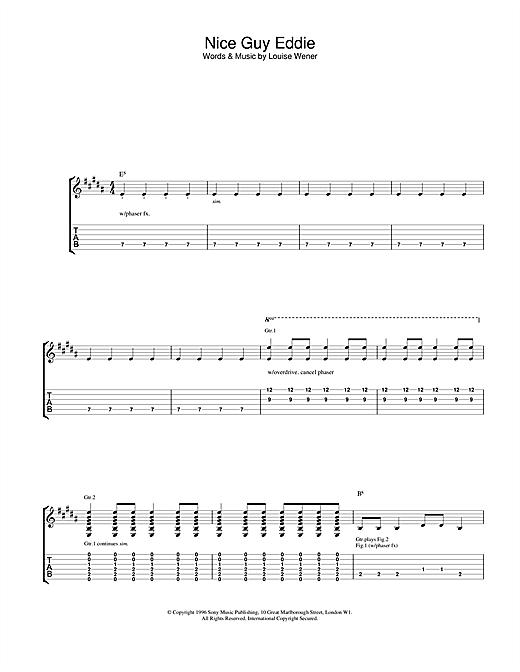 Sleeper Nice Guy Eddie sheet music notes and chords. Download Printable PDF.