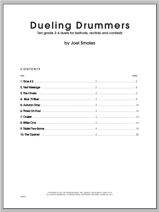 Smales Dueling Drummers sheet music notes and chords. Download Printable PDF.