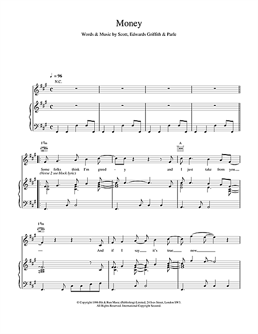Space Money sheet music notes and chords
