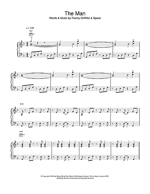 Space The Man sheet music notes and chords. Download Printable PDF.