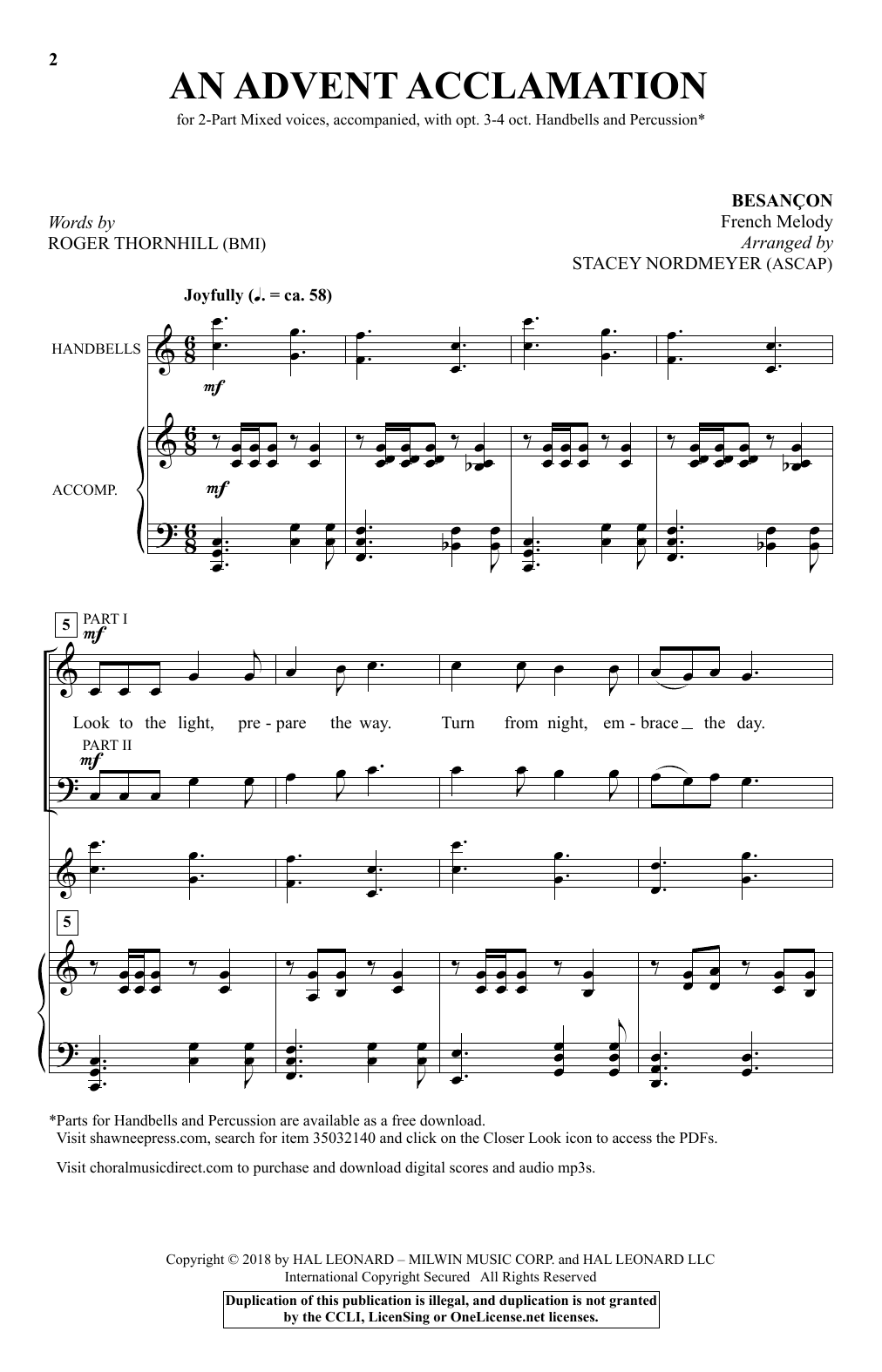 Stacey Nordmeyer An Advent Acclamation sheet music notes and chords. Download Printable PDF.