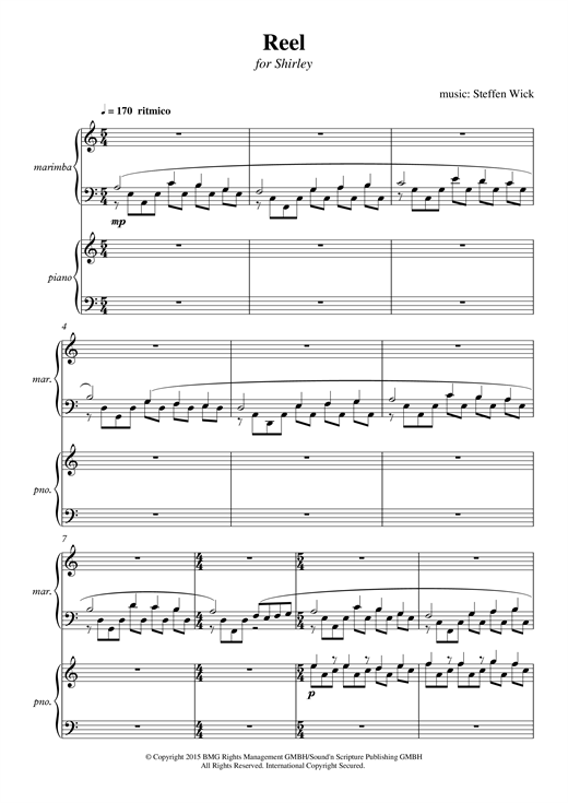 Steffen Wick Reel sheet music notes and chords. Download Printable PDF.