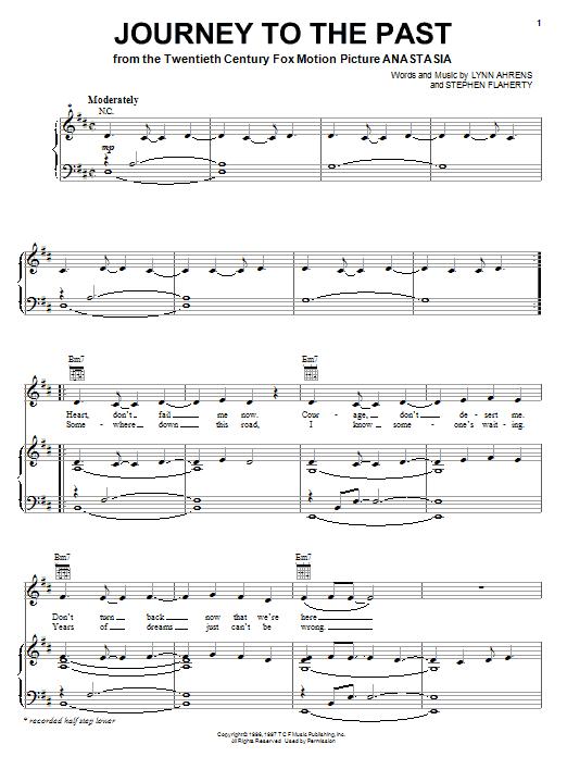 anastasia journey to the past free piano sheet music