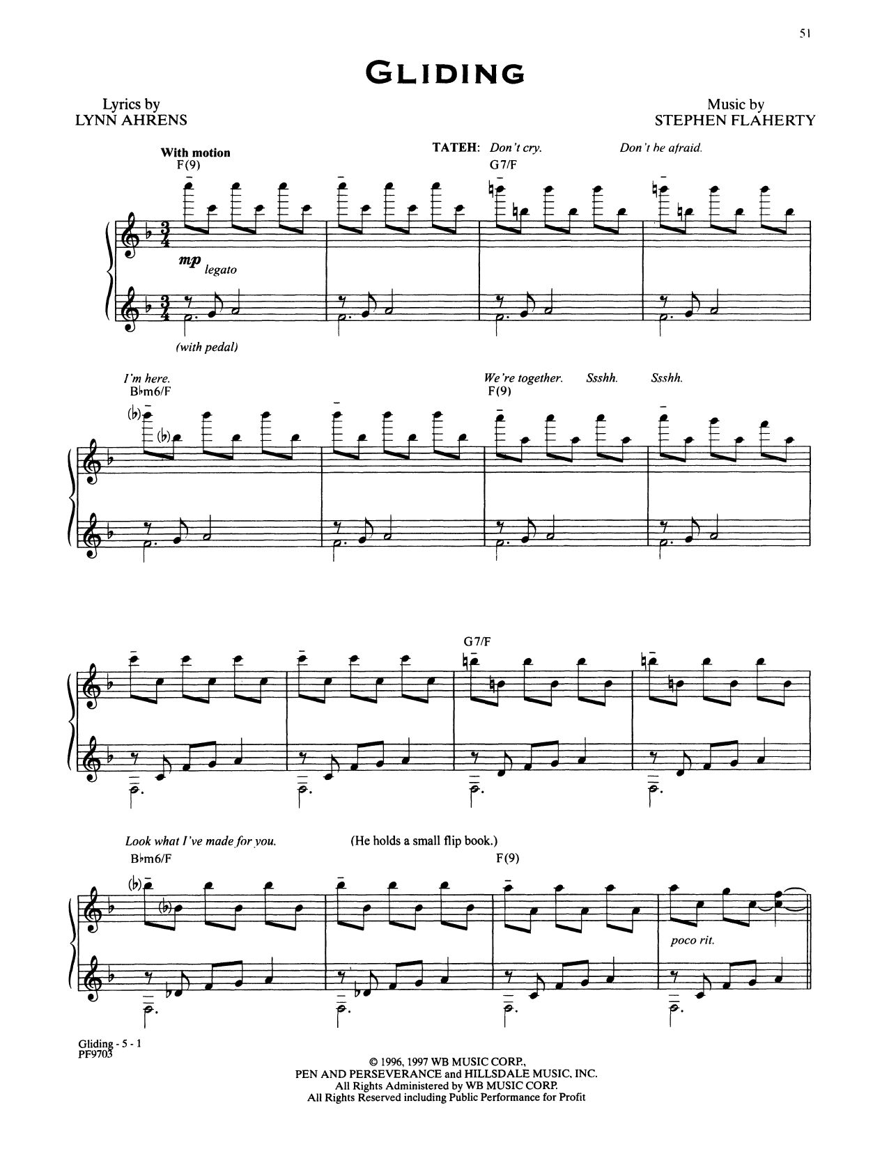 Stephen Flaherty and Lynn Ahrens Gliding (from Ragtime: The Musical) sheet music notes and chords. Download Printable PDF.