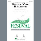 Download Stephen Schwartz 'When You Believe (from The Prince Of Egypt) (arr. John Leavitt)' Printable PDF 13-page score for Pop / arranged SSA Choir SKU: 448386.