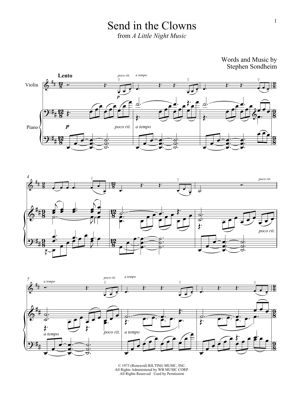 Stephen Sondheim Send In The Clowns (from A Little Night Music) sheet music notes and chords. Download Printable PDF.