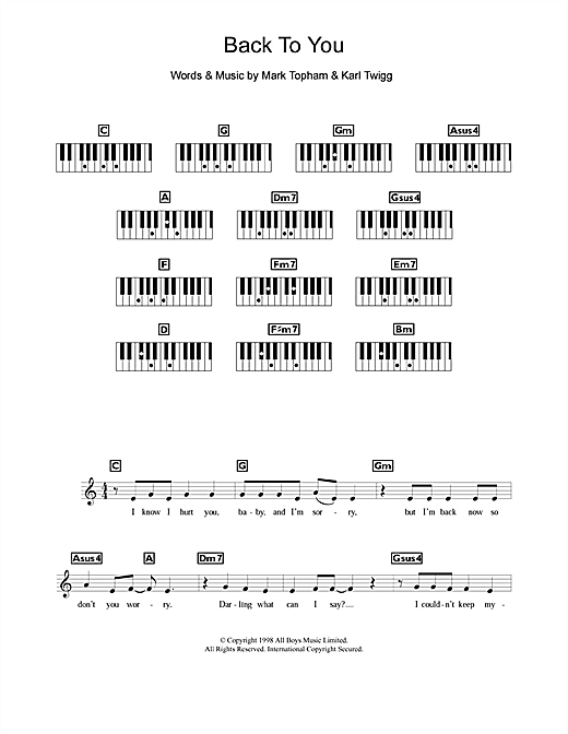 Steps Back To You sheet music notes and chords. Download Printable PDF.
