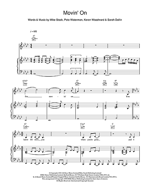 Steps Movin' On sheet music notes and chords. Download Printable PDF.