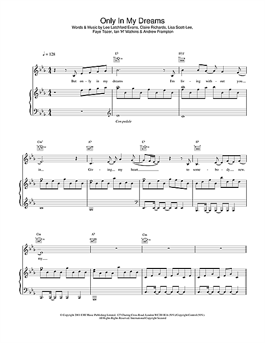 Steps Only In My Dreams sheet music notes and chords