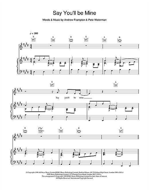 Steps Say Youll Be Mine sheet music notes and chords