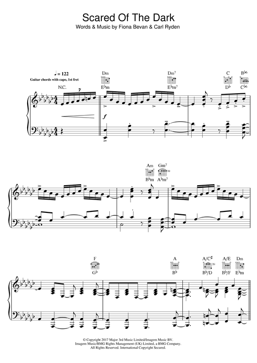 Steps Scared of the Dark sheet music notes and chords. Download Printable PDF.