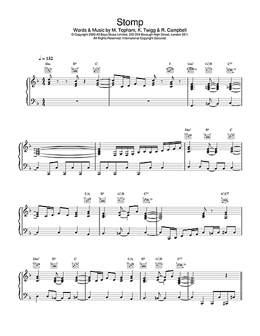 Steps Stomp sheet music notes and chords