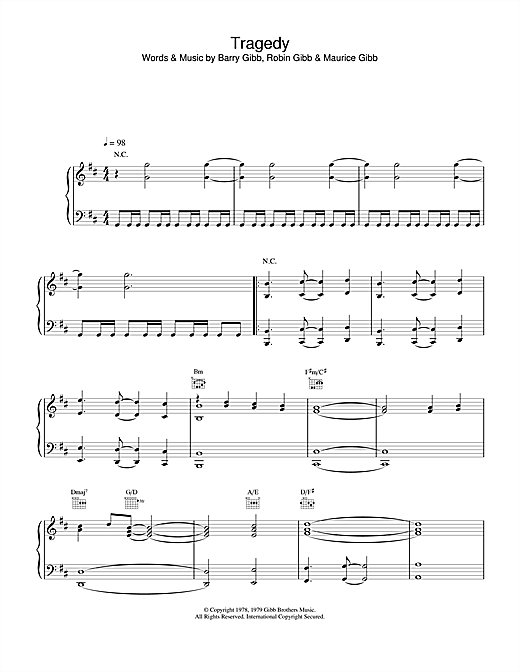 Steps Tragedy sheet music notes and chords