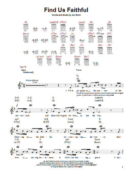 Steve Green Find Us Faithful sheet music notes and chords. Download Printable PDF.