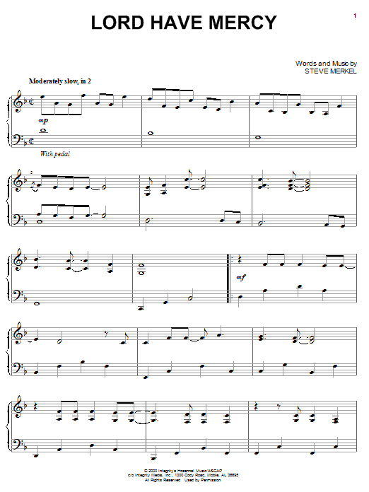 Steve Merkel Lord Have Mercy sheet music notes and chords. Download Printable PDF.