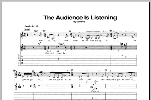 Steve Vai The Audience Is Listening sheet music notes and chords. Download Printable PDF.
