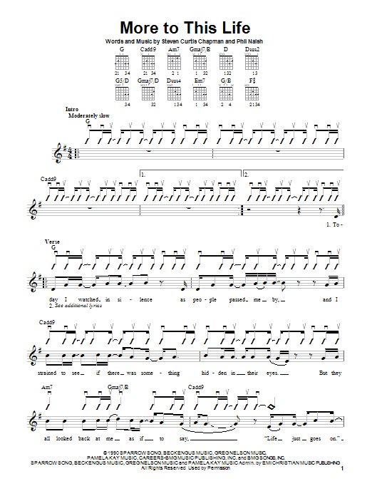 Steven Curtis Chapman More To This Life sheet music notes and chords. Download Printable PDF.
