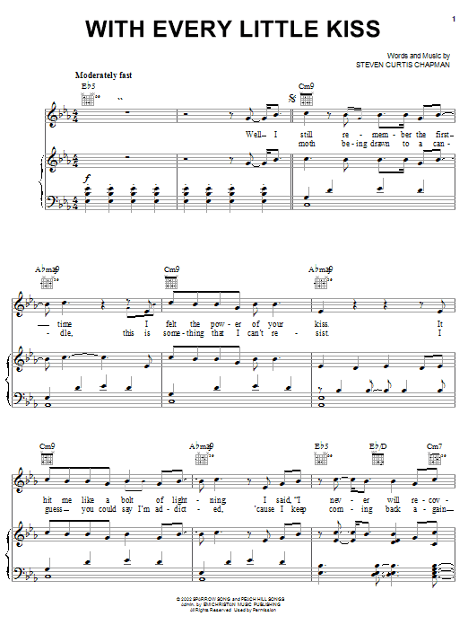Steven Curtis Chapman With Every Little Kiss sheet music notes and chords. Download Printable PDF.