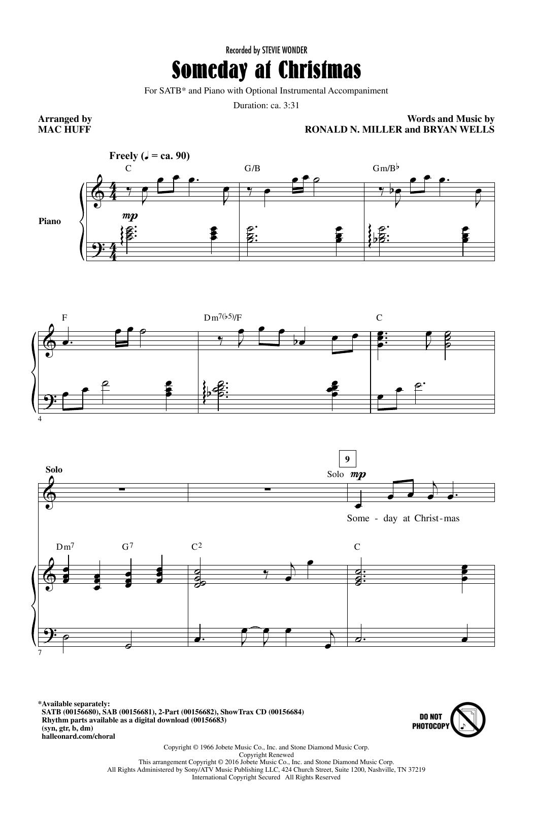 Someday At Christmas (arr. Mac Huff