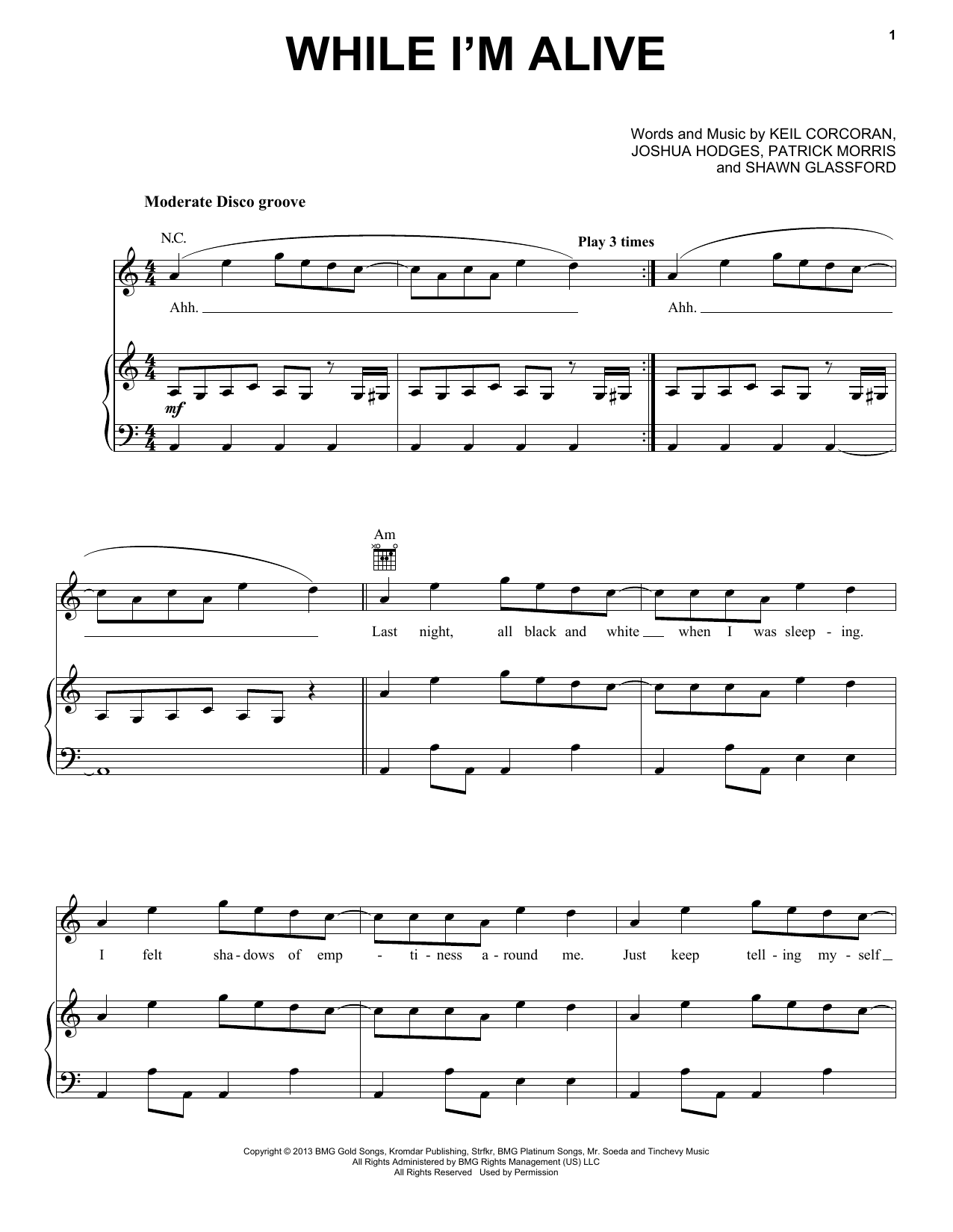Strfkr While I'm Alive sheet music notes and chords. Download Printable PDF.