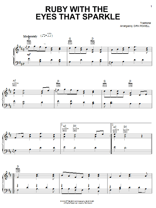 Stuart Duncan Ruby With The Eyes That Sparkle sheet music notes and chords. Download Printable PDF.