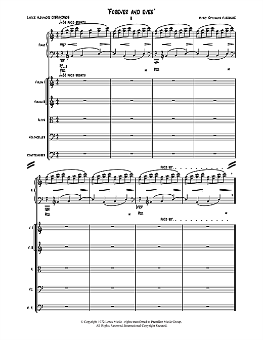 Stylianos Vlavianos Forever and Ever sheet music notes and chords. Download Printable PDF.