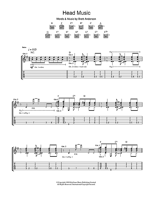 Suede Head Music sheet music notes and chords. Download Printable PDF.