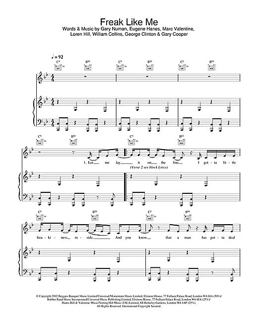 Sugababes Freak Like Me sheet music notes and chords. Download Printable PDF.