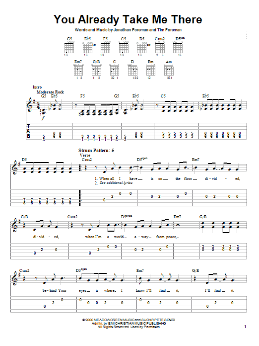Switchfoot You Already Take Me There sheet music notes and chords. Download Printable PDF.