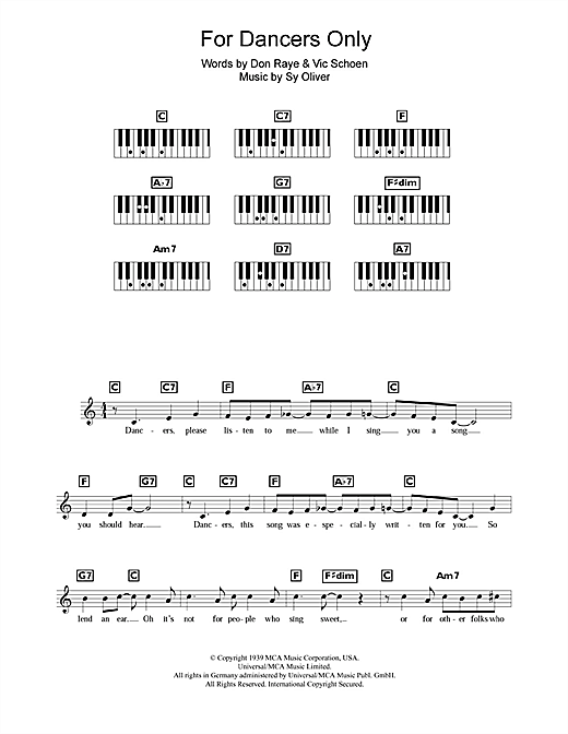 Sy Oliver For Dancers Only sheet music notes and chords. Download Printable PDF.