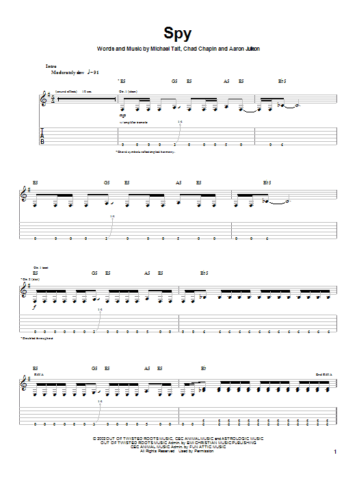 Tait Spy sheet music notes and chords. Download Printable PDF.