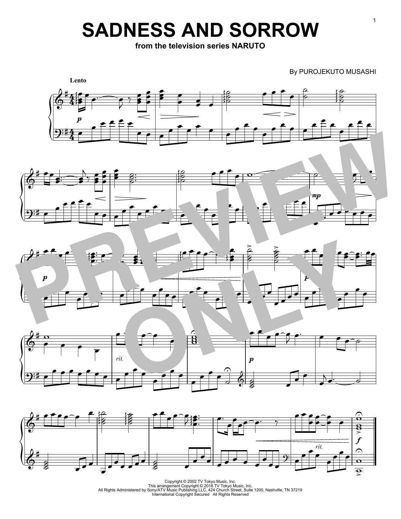 Taylor Davis Sadness And Sorrow From Naruto Sheet Music Pdf Notes Chords Film Tv Score Easy Piano Download Printable Sku 410985