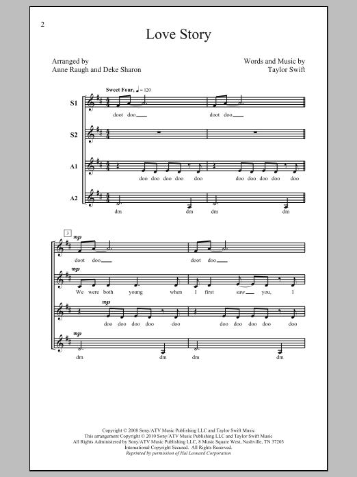 Deke Sharon Love Story sheet music notes and chords. Download Printable PDF.
