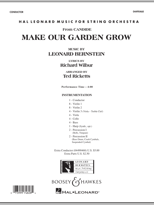 Ted Ricketts Make Our Garden Grow (from Candide) - Conductor Score (Full Score) sheet music notes and chords. Download Printable PDF.
